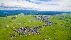 井川町管内全景ドローン写真空撮 高度400m