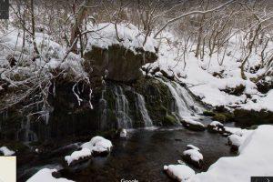 秋田県にかほ市 元滝伏流水(冬)